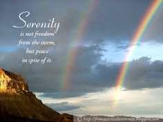 What serenity is.