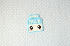 Cute Milk  Hama Beads Keychain Manga by CreepyMermaiid on Etsy, €2.50