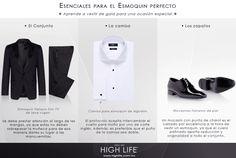 El #Esmoquin es un esencial de todo caballero. Conozca las prendas primordiales de este conjunto. #HighLife