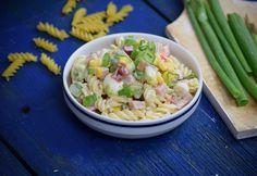 Színes sonkás tésztasaláta Mozzarella, Pasta Salad, Potato Salad, Grilling, Salads, Potatoes, Ethnic Recipes, Food, Diet