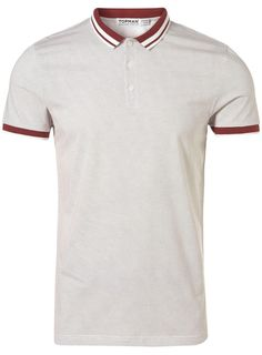 Polo Shirt Burgundy Plain