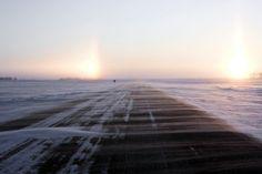 at the Canadian Border, North Dakota