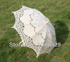 Cheap fan tower, Buy Quality umbrella chinese directly from China umbrella cap Suppliers:#25'' WhiteOptional size&color Battenburg lace Parasol Umbrellafor Bridal Wedding s251 Descript