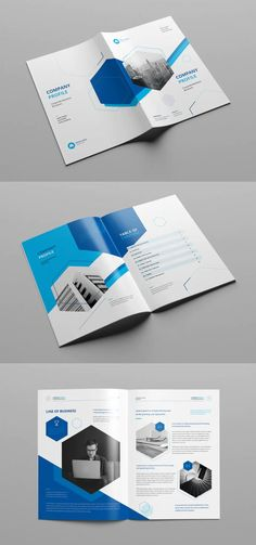 Creative Company Profile Template INDD Layout Template, Print Templates, Company Profile Design Templates, Presentation Magazine, Food Poster Design, Creative Company, Business Brochure, Business Design, Service Design