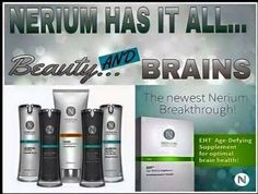 Nerium for youthful beautify and brain health! These stellar anti-aging products will make a difference in your life. www.BarbaraRasko.buyNeriumEHT.com