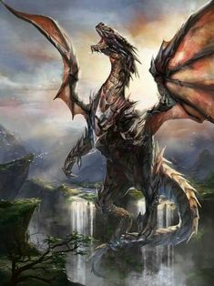 Ddraig: My love of magic, dragons, and all things fantasy. Fantasy Wesen, Fantasy Beasts, Anime Art Fantasy, Fantasy Artwork, Mythological Creatures, Mythical Creatures, Guerrero Dragon, Art Vampire, Foto Fantasy