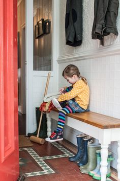 Bench, Large (Handmade, Dining, Kitchen, Hallway, Pine, Coat Stand, Shabby Chic)