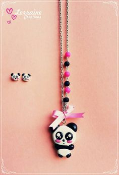 "Set necklace and rings ""cute panda"" $95 MX"