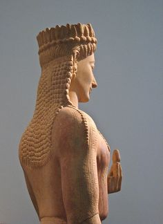 Statue of a Kore, Detail Kore was daughter of Demeter and Zeus.