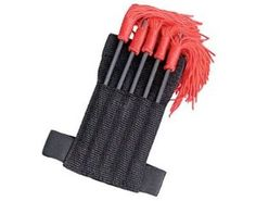 Set of 5 Ninja Throwing Spikes with Wrist Sheath: 5 piece SHARP spike set with arm sheath-with red tassels Hunting Knives For Sale, Fixed Blade Hunting Knives, Throwing Spikes, Ninja Uniform, Real Ninja, King Of Swords, Ninja Gear, Martial Arts Supplies, Grappling Hook