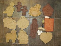 Brown Bag Hartstone Stoneware Cookie Stamp by MostlyAwesomeStuff