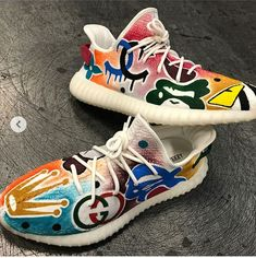 """Custom of the hour """"Hypebeast Heaven Yeezy 👉 👈 Mens Fashion Shoes, Sneakers Fashion, Shoes Sneakers, Jordan Shoes Girls, Girls Shoes, Custom Sneakers, Custom Shoes, Lit Shoes, Fresh Shoes"""