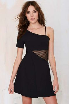 The Lash Asymmetric Dress - Going Out | Fit-n-Flare | LBD