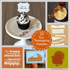 25 Free Thanksgiving Printables - EverythingEtsy.com