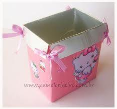 Resultado de imagem para artesanato com caixa de leite