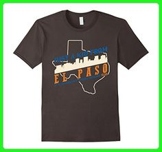 Mens Just A Kid From Elpaso T-shirt Retro Vintage Style Large Asphalt - Retro shirts (*Amazon Partner-Link)