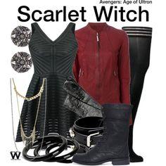 Inspired by Elizabeth Olsen as Scarlet With in the Marvel/Avengers film franchise.