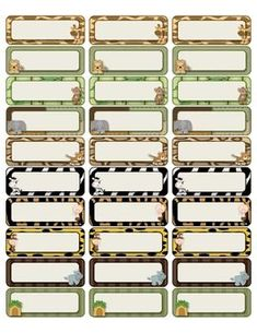 Jungle avery labels 48863 jungle theme classroom ideas for Avery template 48863