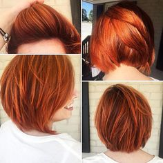 Gestapelte Bob Haare, Red Hair Copper Stacked
