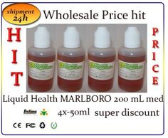 Wholesale Price hit Liquid Health MARLBORO 200mL med 4x-50ml super discountr