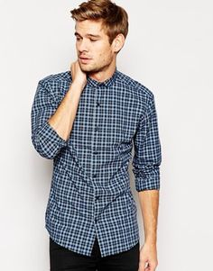 Selected Tartan Shirt With Penny Collar In Skinny Fit