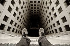 Dennis Maitland is a talented photographer took the self portraits to another level where he shoots himself sitting on the edge of a high building.