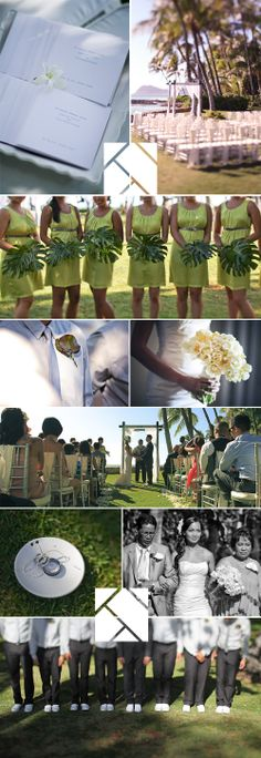 Love the bridesmaid bouquets. Shawn Starr Photography : Finishing Touch : Lanikuhonua : Hawaii Wedding