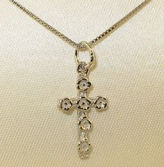 NEW BOXED 925 STERLING SILVER CROSS with CHAIN!!!