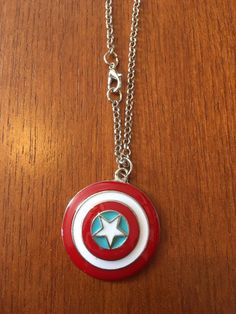 Captain America necklace by GiftoftheGeek on Etsy