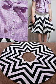 Amazing chevron skirt- it's pieced! Wonder if I could do this with strategically cut fabric...