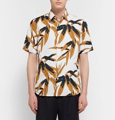 Though cut in a simple silhouette from cotton-poplin, the graphic, saturated print makes this shirt distinctively <a href='http://www.mrporter.com/mens/Designers/Marni'>Marni</a>. It has been made in Italy and is designed to have a slightly rumpled look, so don't press yours too crisply.