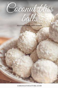 White Christmas coconut bliss balls