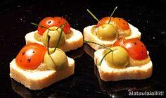 Marietes Cherry amb paté de pistatxo i tàperes