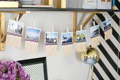 5 ideias de como usar varal na decor do seu office - varal de fotos