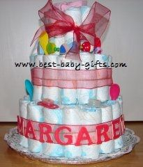 Welcome to Best-Baby-Gifts.com Diaper Cake Gallery: lots of unique diaper cakes made by our visitors