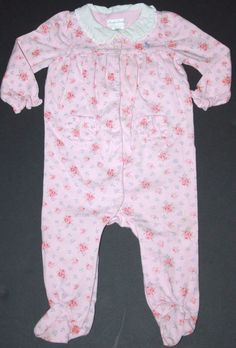 Ralph Lauren Infant Girls Size 9 Months Pink Floral Romper One-Piece Outfit #RalphLauren #DressyEveryday #casual #kids #clothing  #style #fashion #designer #flowers #floral #pink #gopink