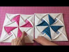Como fazer Bloco de Patchwork simplificado - YouTube Tutorial Patchwork, Festival Decorations, Ribbon Embroidery, Pinwheels, Machine Quilting, Couture, Handicraft, Quilt Blocks, Fiber Art