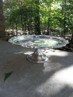Vintage Silver Cake Stand Sheridan Silver Plate Tray Cake Plate Wedding Decor Table Settings French Country Dining Entertaining via Etsy