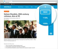 Newsela provides nonfiction daily news articles that can be sorted by Grade Level or Reading Standards to build reading comprehension.