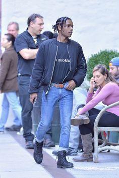ASAP Rocky wearing  Alexander Wang Kent High Chukka Boot, Undercover No Borders Tee