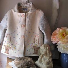 Vintage Embroidered Size 5 Girls Jacket by JackieSpicer on Etsy, $54.00