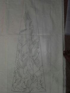 Idea for garb panel-make the birds ravens.and greenery the Summits barberry Bird Embroidery, Embroidery Motifs, Beaded Embroidery, Embroidery Designs, Dress Design Drawing, Tambour Beading, Pencil Design, Ribbon Work, Fabric Painting