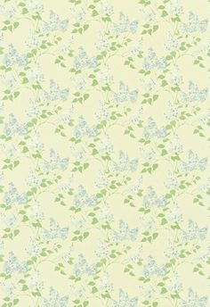 Lilacs (221962) - Sanderson Fabrics - A romantic design of fragrant lilac trees with a loose hand-painted effect, which co-ordinates with the wallpaper design. Shown in the China Blue / Ivory colourway.  Please request sample for true colour match.