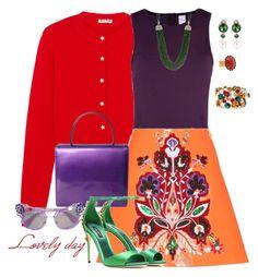"""Lovely day"" by joyfulmum ❤ liked on Polyvore featuring Miu Miu, STELLA McCARTNEY, ESCADA and Dolce&Gabbana"
