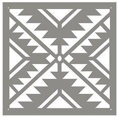 45 Ideas Home Decor Ideas Everyone Should Have - Interior Design Stencils, Stencil Templates, Stencil Patterns, Tribal Patterns, Stencil Diy, Stencil Designs, Quilt Patterns, Motif Navajo, Navajo Pattern