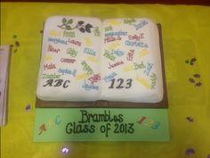 A marvelous parent made our Pre-School 2013 graduation/leavers celebration cake. School 2013, Pre School, Wedding Favours, Wedding Cakes, School Leavers, Bramble, Celebration Cakes, Primary School, Amazing Cakes