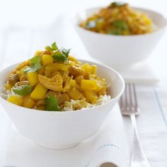 Happy english colonial curry with turkey