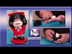 Cómo modelar una muñeca Mafalda - YouTube Clay Videos, Fondant Tutorial, Clay Tutorials, 60th Birthday, Margarita, Diy And Crafts, Polymer Clay, Polymers, Cool Ideas