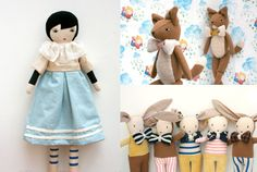 I'm a little bit in love with these dolls from le train fantome