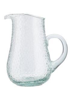 Glaskrug aus Klarglas. D/H: ca. 19/23cm.